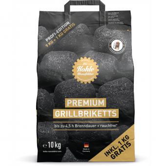 Die Kohle-Manufaktur Premium-Grillbriketts 9+1 kg gratis