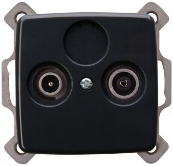 Kopp Antennensteckdose 2-fach Rivo anthrazit