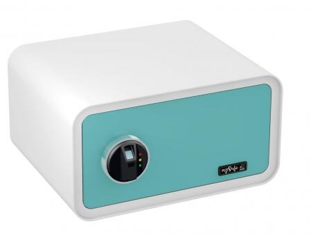 Basi mySafe 430 Fingerprint Elektronik-Möbel-Tresor blau-weiß