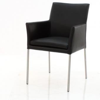 SIX Armlehnstuhl Lederstuhl No. 422 Schwarz