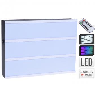 LED Lightbox mit Farbwechsel und Timer + Fernbedienung