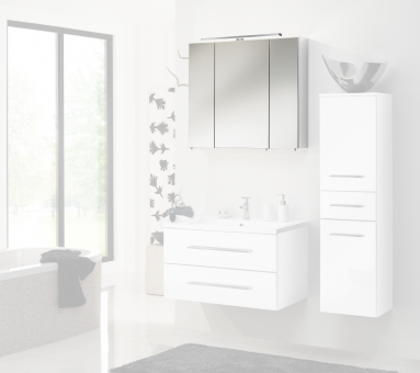 Zoll Simply Ramero Spiegelschrank, 80 cm, weiß