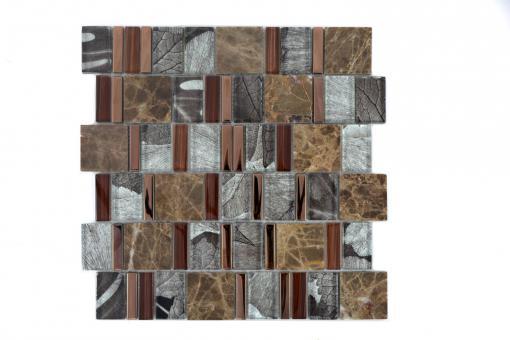 KEM Mosaik Multiformat Crystal/Stein mix beige/braun