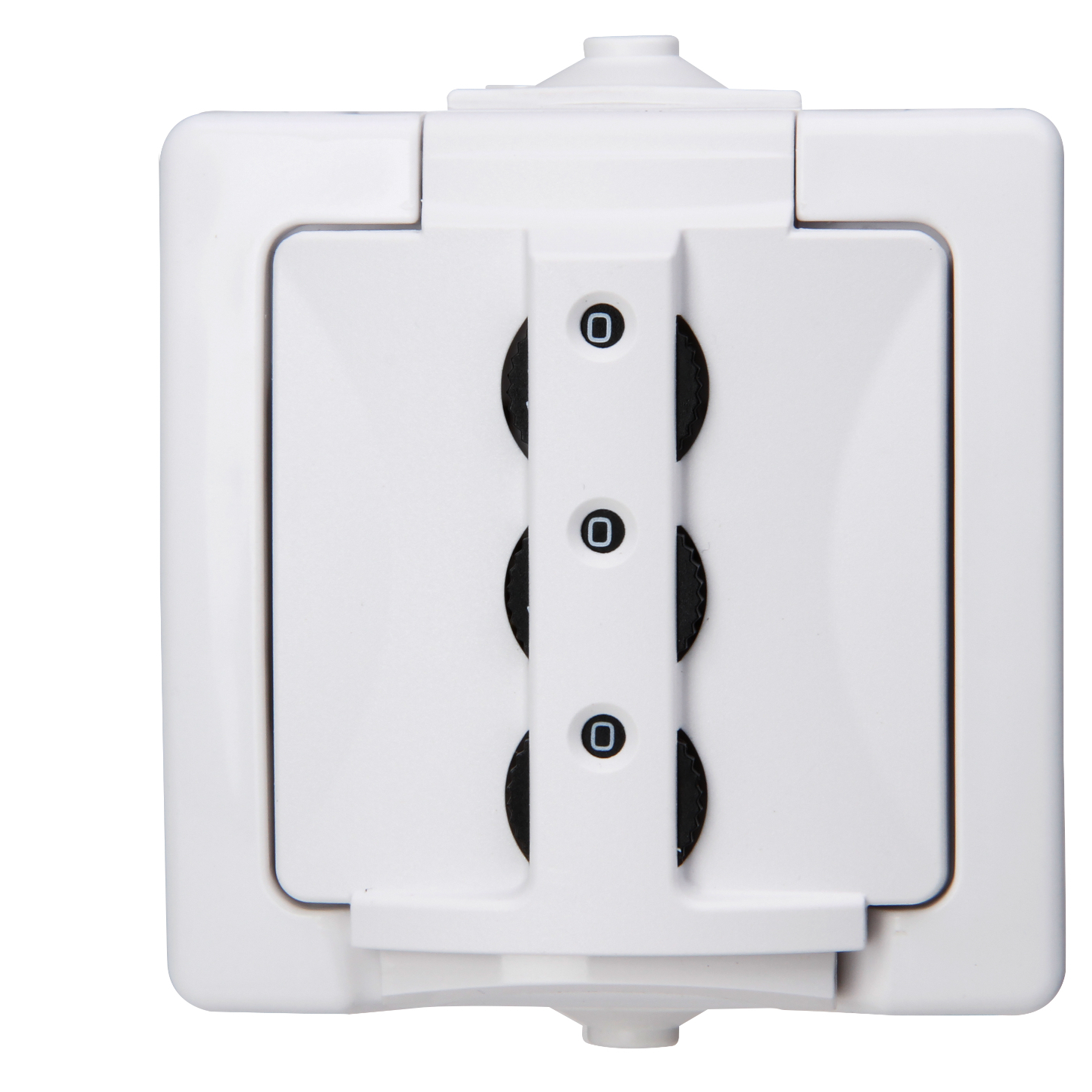 Kopp Nautic AP-FR Schutzkontakt-Steckdose IP44 Zahlenschloss anthrazit sicher